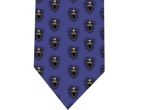 Screeming Skull Tie - Model 1 Blue