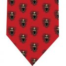 Screeming Skull Tie - Model 3 red