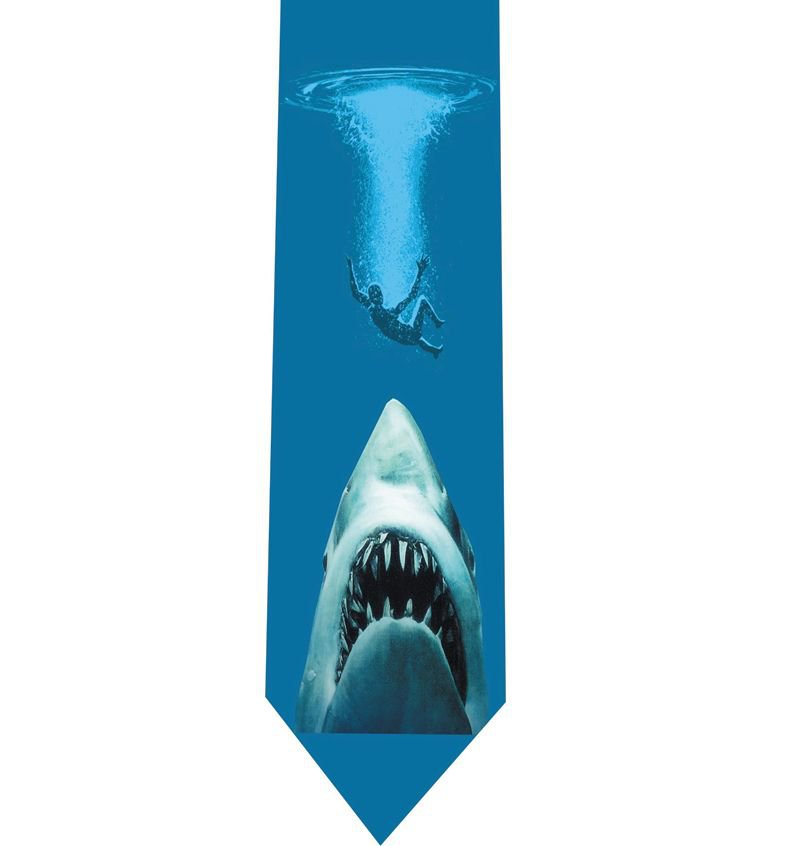 Jaws Tie - Horror Retro