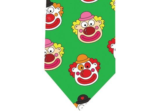 Clown Tie - Model 3 - green
