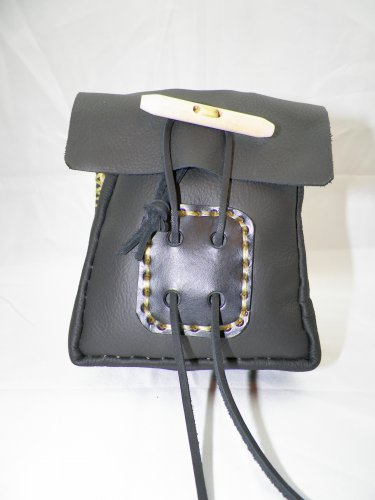 SMALL LEATHER BELT POUCH - LBP-S-BLACK-003