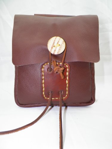 LARGE LEATHER BELT POUCH - LBP-L-BrowN-009