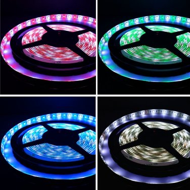 TORCHSTAR 116.4ft (5m) 5050 RGB+WHITE Flexible LED Strip Lights - Waterproof IP65