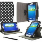 """Roocase Samsung Gal Tab 3 Lite 7"""" Leather Dual View Blk W/dots Book"""