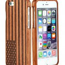 SunSmart Unique Handmade Wooden bamboo Case Cover for iPhone 6+ ' (24-the Stars and the Stripes)