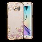 Samsung Galaxy S6 Edge Case,Inspirationc® [Secret Garden] Gold and Pink