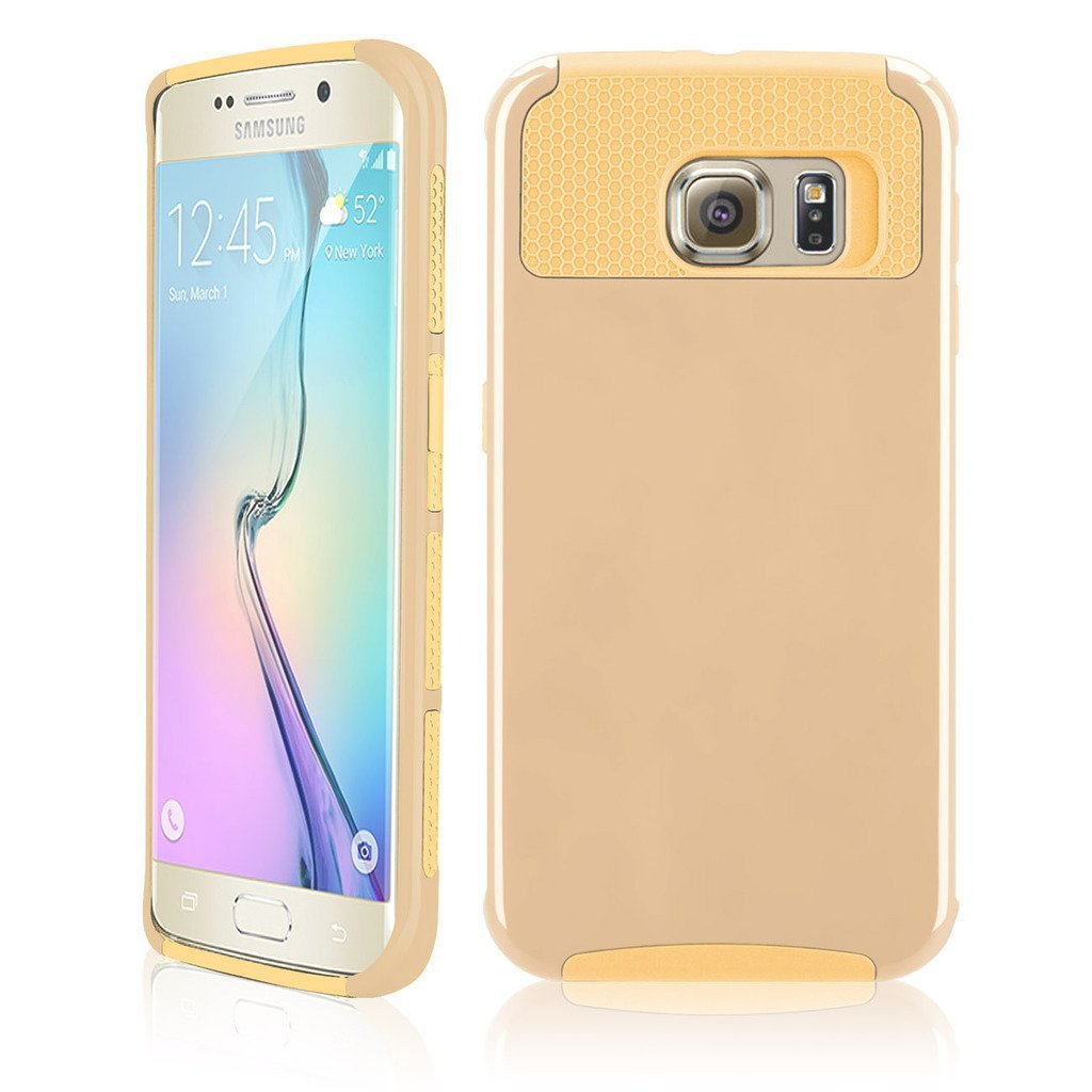 Samcore Hybrid Dual Layer Shockproof Case for Samsung Galaxy S6 edge GOLD