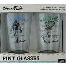 Pour Folk Pint Glasses by 30 Watt - Club break and Bag Toss
