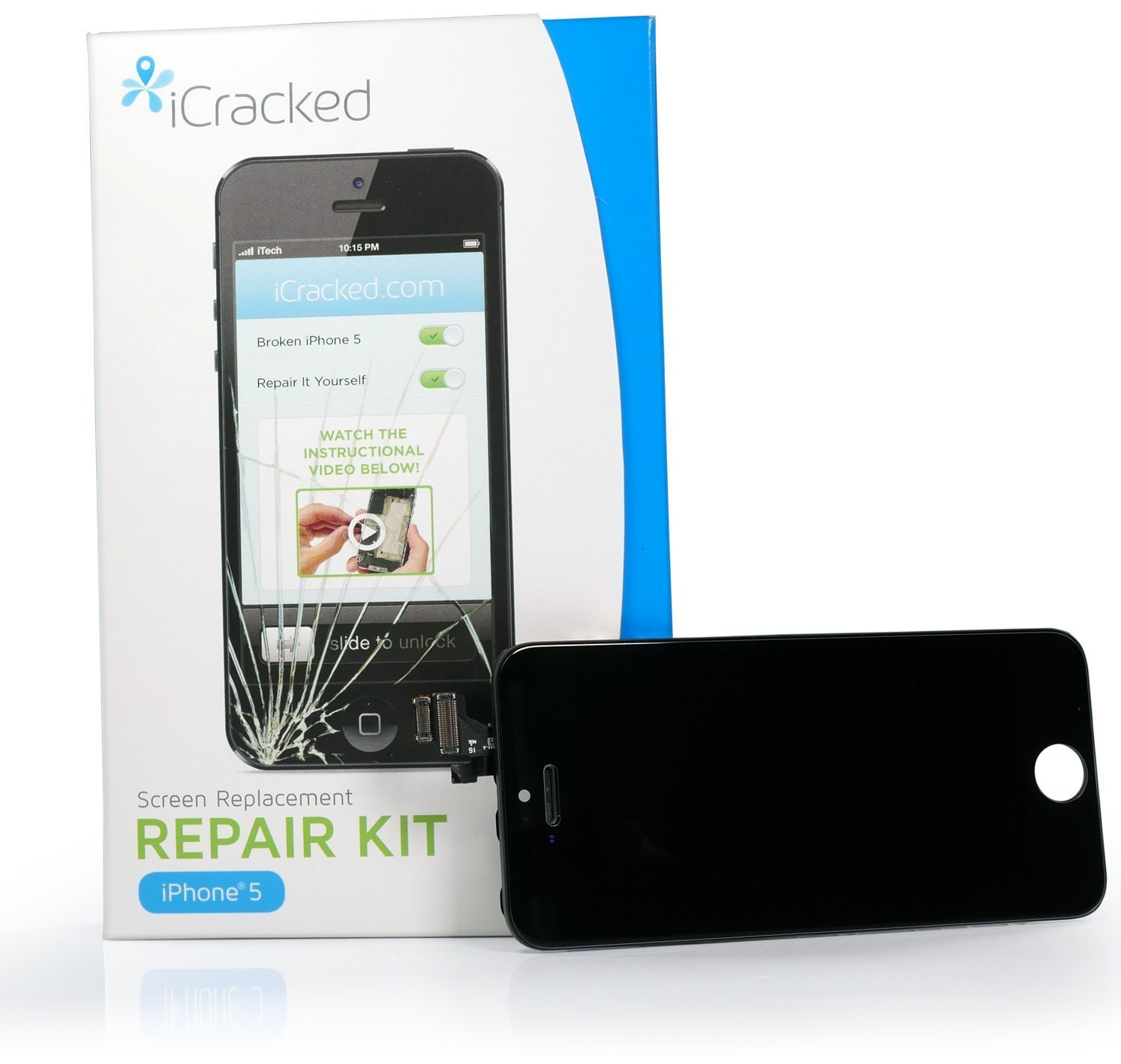 iphone screen repair kit icracked iphone 5 screen replacement kit at amp t verizon 3104