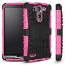 LG G3 Vigor Case, Sophia Shop 2 in 1 Heavy Duty PINK/BLACK
