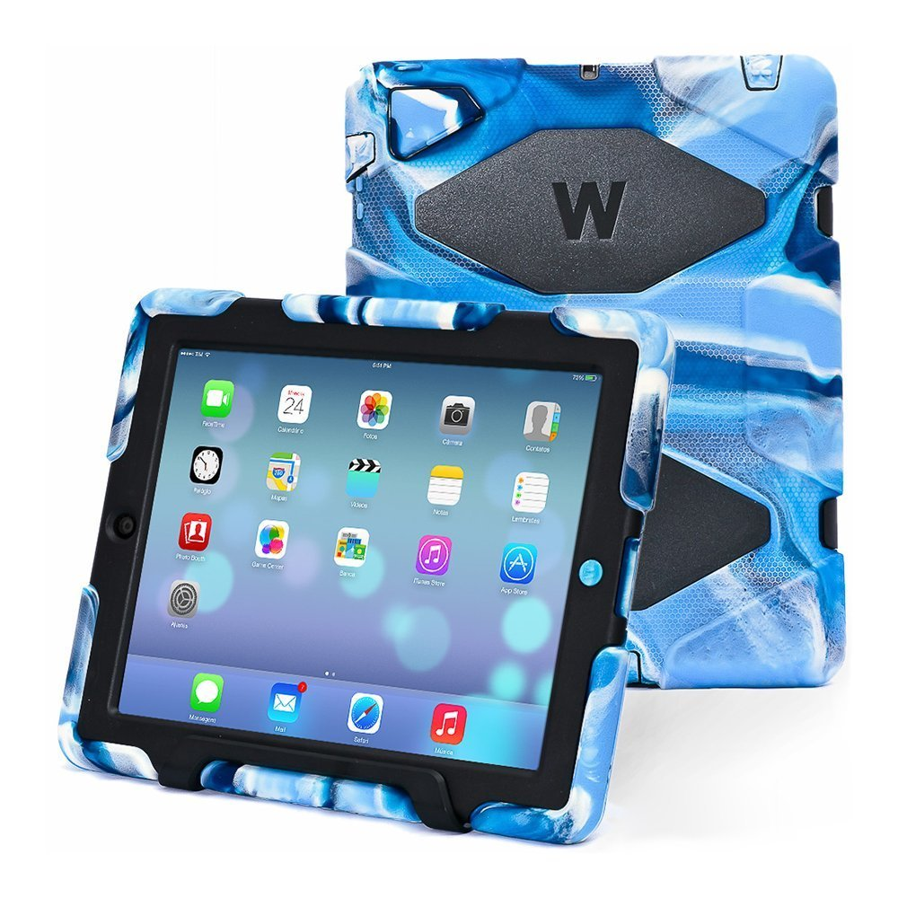 Thinking Summer  Ipad 2 3 4 Case Winpartner Travellor A41 (Camouflage blue+black)