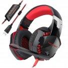 TeckNet 7.1 Channel Surround Sound PC Computer Over Ear Headphones RED/BLACK