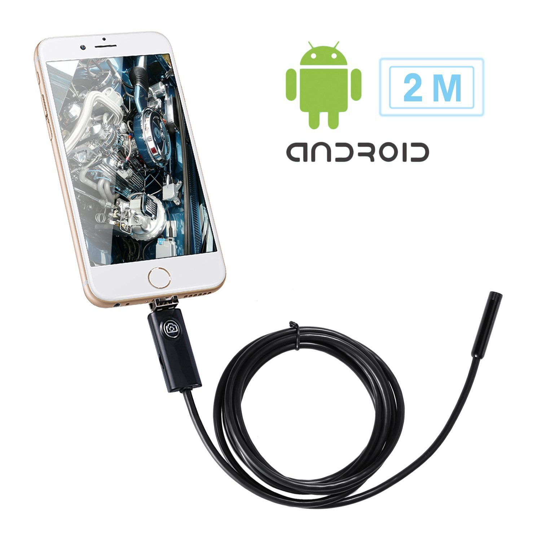 Leshp 2 In 1 Smartphone Borescope Inspection Endoscope Hd