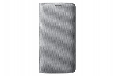 Samsung Cell Phone Case for Galaxy S6 Edge - Retail Packaging - Silver Fabric