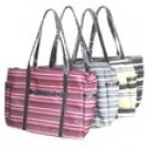 Stripe Martha Zip Handbag