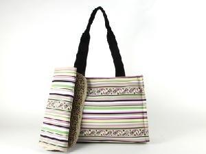 Stripe Martha Paisley Diaper Bag