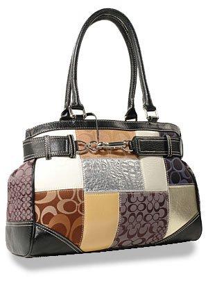 Signature Lorna Patchwork Belted Tote Handbag