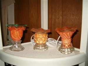 Orange Electric oil-tart warmers