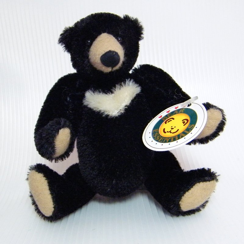 "Effanbee Bear Essentials BLACKBERRY 5"" Mohair Sun Bear Articulated Limbs Effanbee B096"