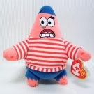 TY Beanie Babies FIRST MATE PATRICK Star SpongeBob Squarepants Friend NWT 2008
