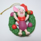 Disney PIGLET Winnie Pooh Ornament Porcelain Treasures Grolier Collectibles