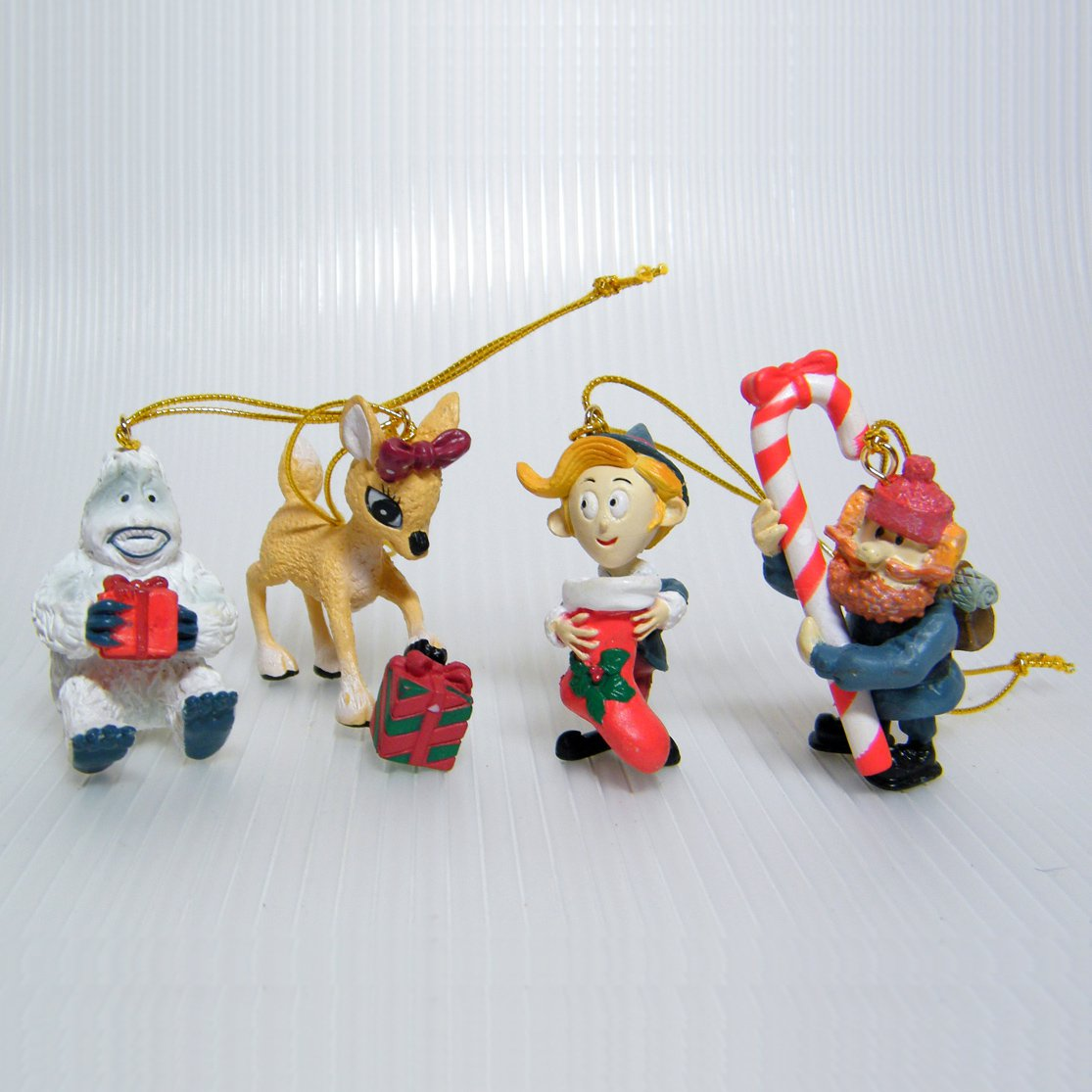 Miniature RUDOLPH The Red-Nosed Reindeer Ornaments Misfit Toys Movie Figures