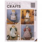 McCall's 9120 BAG HOLDER Patterns Dog Cow Bunny Doll w Fabric, Wig & Trim Kit