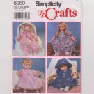 "Simplicity 8960 DOLL CLOTHES 12-14"", 16-18"", 20-22"" All Sizes 4 Outfits - New"