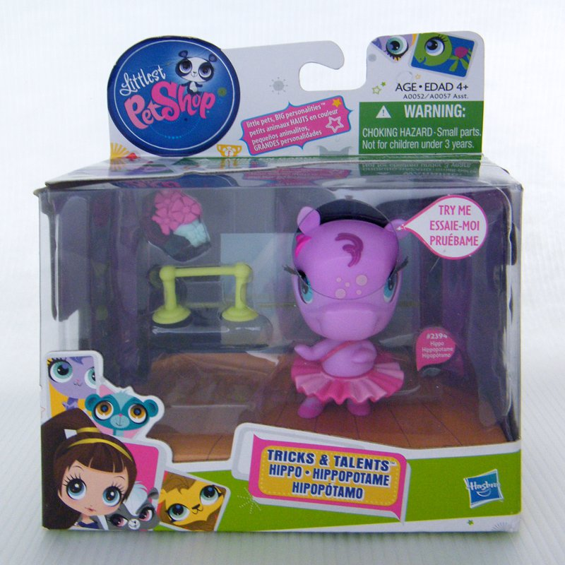Littlest Pet Shop Hippo 2394 Tricks and Talents Hippotamus in Tutu