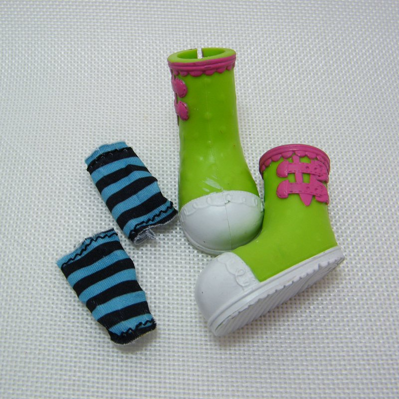 Lalaloopsy APRIL SUNSPLASH Green Shoes and Socks, Full Size Doll