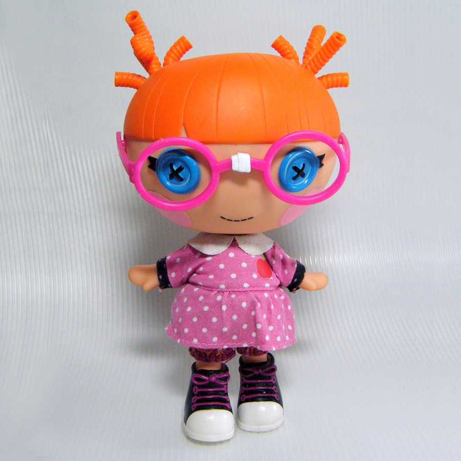 """Lalaloopsy Little SPECS READS A LOT 7"""" Sister of Bea Spells Doll"""