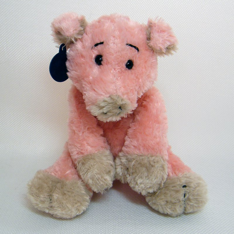 Ganz Heritage Collection L'IL CECIL Pink Pig Beanie Size Plush H4131