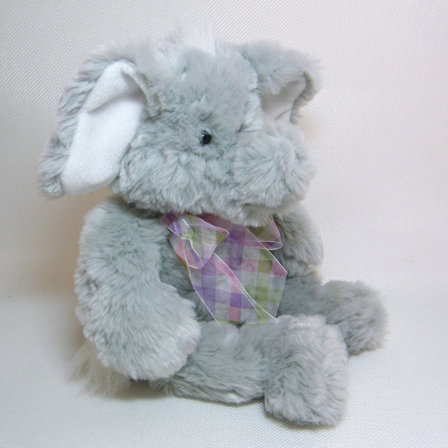 Gund Elephant PEANUT #31007 Soft Plush Paciderm White Ears