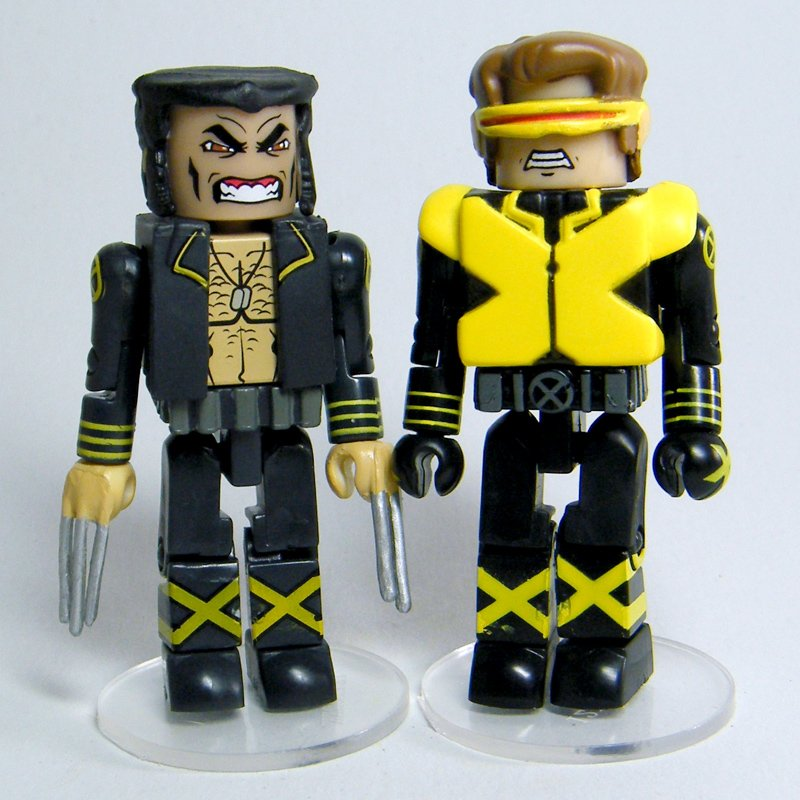 Marvel Minimates WOLVERINE & CYCLOPS Dark Tide DVD Loose Figures