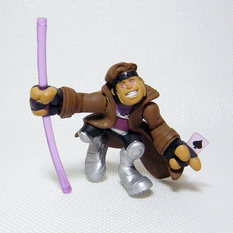 "Marvel Super Hero Squad GAMBIT Translucent Purple Staff  2.5"" Wave 5 Figure"