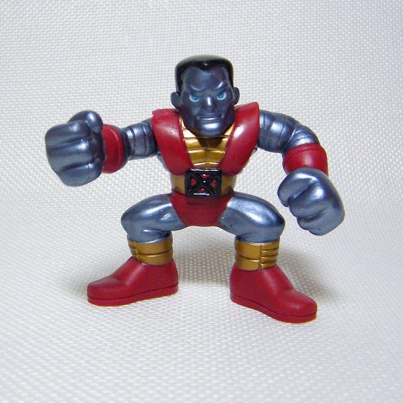 """Marvel Super Hero Squad COLOSSUS Dark Metal 2.5"""" (7 cm) Wave 1 X-Men"""