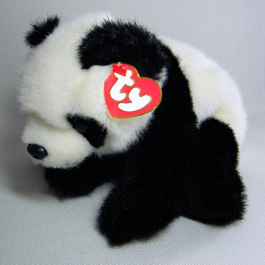 Ty Beanie Buddies BAMBOO Plush Panda w/Tags 1997 Retired