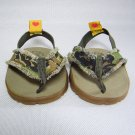 Build A Bear Army Camouflage Thong Sandals with Rubber Soles BABW