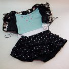 Build A Bear Black Sequin Jacket & Matching Polka Dot Skirt Party Clothes
