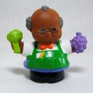 Fisher Price Little People SHOPKEEPER SAM Fresh Produce Grocer Discovery Village