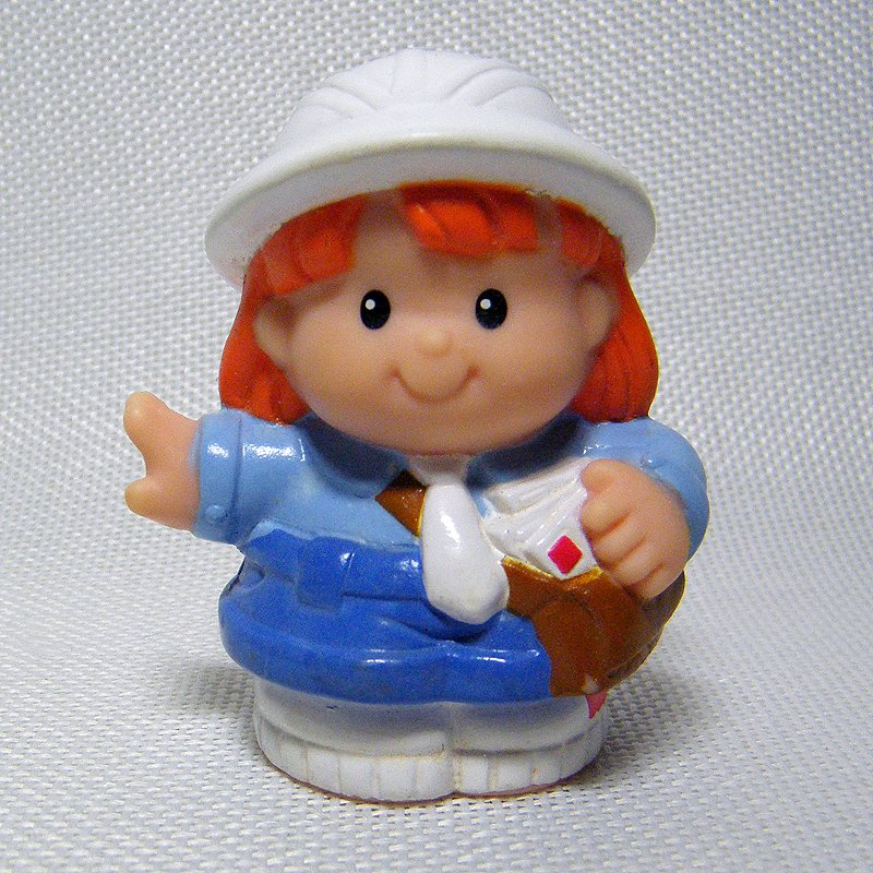 Fisher Price Little People TRINA Mail Carrier from People on the Job 72547