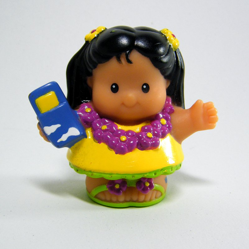 Fisher Price Little People MIA Girl Hawaiian Vacation Lil Movers Airplane