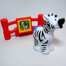 Fisher Price Little People ZEBRA with Red Fence Fence Petting Zoo Animal