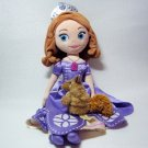 "Disney SOFIA THE FIRST 13"" Once Upon a Princess Cloth Doll & Squirrel Puppet"