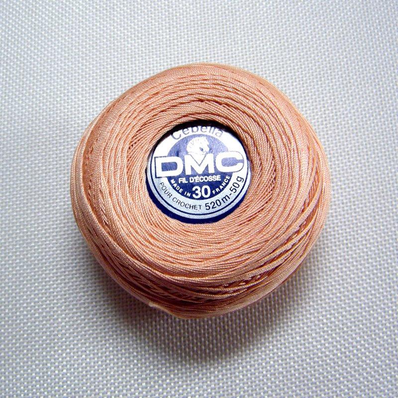 DMC Cebelia 754 Sz30 Light Peach Crochet Cotton Size 30 520m-50g Lot #7424