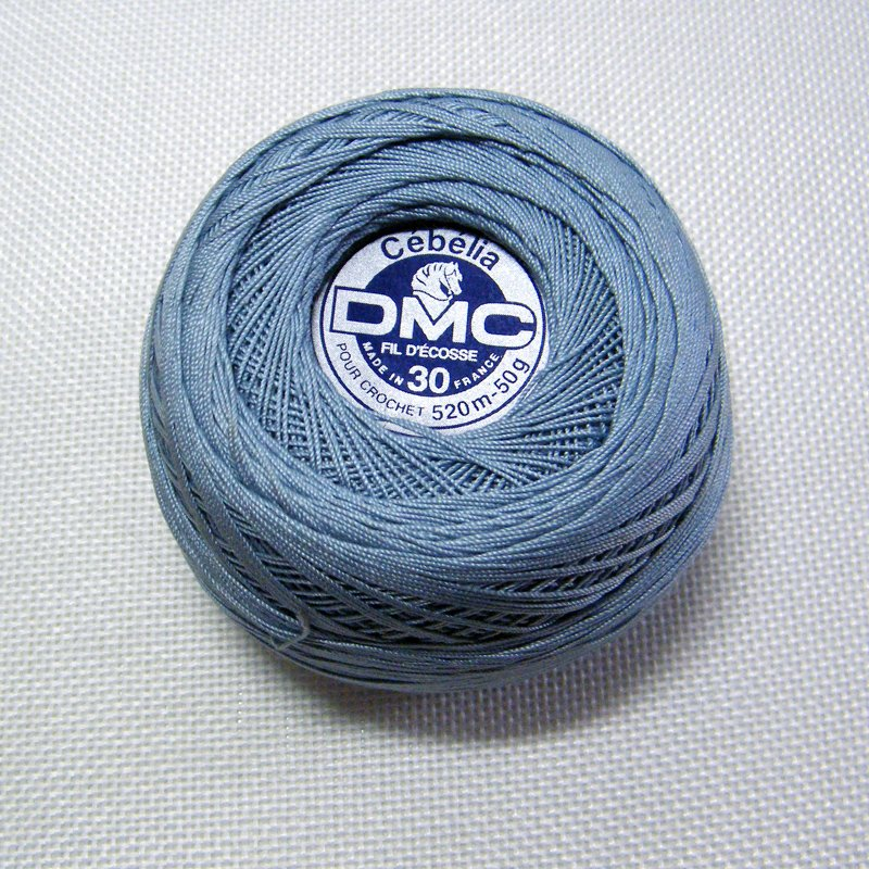 DMC Cebelia 932 Sz30 Antique Blue Crochet Cotton Size 30 520m-50g Lot #4889 France