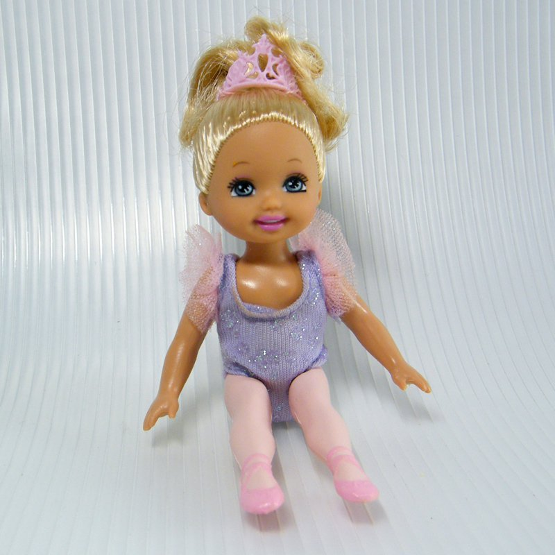 Kelly From Barbie's BALLERINA SISTERS Gift Set w Pink Tiara & Pointy Toes 2005