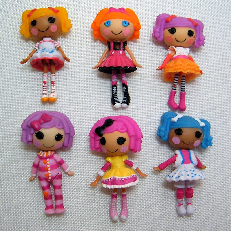 """6 Lalaloopsy MINI Dolls Spot, Bea, Peanut, Pillow, Crumbs, Mittens 3"""" Loose Dolls"""
