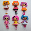 "6 Lalaloopsy MINI Dolls Spot, Bea, Peanut, Pillow, Crumbs, Mittens 3"" Loose Dolls"