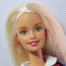 Barbie TEACHER 2000 Lovely Blonde w Denim Dress & Chalkboard Pattern Vest